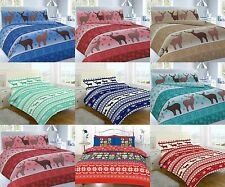XMAS CHRISTMAS FESTIVE DUVET QUILT COVER SETS WITH PILLOW CASES BEDDING