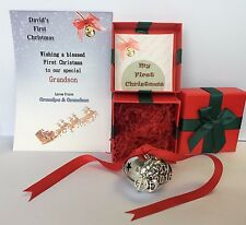 Personalised Polar Express Style Baby's 1st First Christmas Believe Jingle Bell