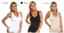 Cami Shaper Camisole Slimming Shapewear Body, Tummy Trimmer BLACK BEIGE WHITE
