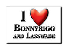 SOUVENIR UK - SCOTLAND MAGNET I LOVE BONNYRIGG AND LASSWADE (MIDLOTHIAN)