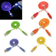 Smile Face LED Light USB Data Sync Charger Cable for Micro USB Phone Tablet etc