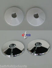 Pipe Collar White/Chrome Plastic Covers 15mm Different Pack Size TPS15