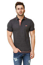 Spunk Mens Black Ripped Polo Tshirt (Ripped Polo-Black)