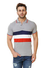 Spunk Mens Grey Baystriped Polo Tshirt (Baystriped Polo-High Rise)