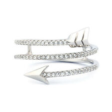 925 Silver Cubic Zirconia CZ Spiral Arrow Ring