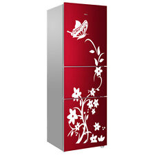 ISPORT Removable Waterproof Butterfly Flower Vine Fridge Decal Wall Sticker