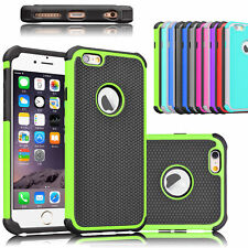 For Apple iPhone 6 6S Case Hybrid Rugged Rubber Combo Matte Soft TPU Back Cover