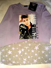 JUSTIN BIEBER Girls Official Bravado Pyjamas Set age 7-8 11-12 13 GIFT Xmas  NEW
