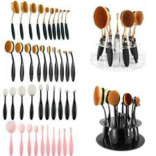 10pcs Toothbrush Power Foundation Oval/Circle/Linear Contour Puff Makeup Brushes