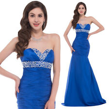 Sexy Strapless BEAD Taffeta Formal Ball Evening Bridesmaid Party Dress Prom Gown