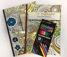 Adult Art Therapy Anti-Stress Colouring Book with 120 Designs / Christmas Gift