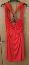BNWT Gorgeous Ted Baker RRP £140 halterneck dress, burnt orange, size 2 (UK10)