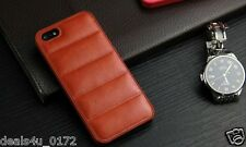 Vintage imported Horse Leather Luxury Back Cover Case for iPhone 5 5s