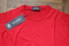 John Smedley 100% Cotton Bright Red Luke Pullover Size Small BNWT RRP £129.00