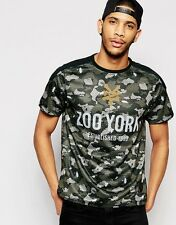 Mens Zoo York T Shirt Camo Doubled Leyer Mesh Football Jersey Style Top New