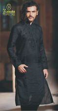 DESIGNER MEN INDIAN BOLLYWOOD STYLE KURTA SHERWANI 2pc SUIT (WORLWIDE POSTAGE)