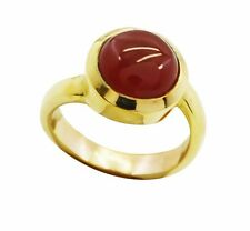 pleasant Red Onyx Gold Plated Red Ring Designer L-1.5 IN