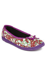 Liberty Gliders FLORAL-27 RED 0003 Women's Ballerinas (FLORAL-27 RED 0003)