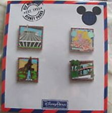 Disney- Fly me to the Disney Parks 4 Pin Booster Set - New and Sealed