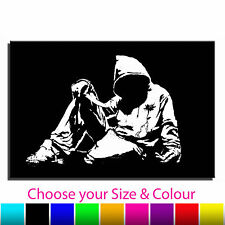 Hoody Banksy Single Canvas Wall Art Picture Print