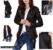 Giacca Giubbotto Chiodo Donna Simil Pelle PU Leather Woman Jacket JAC0012