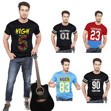 100% Cotton Casual Sport Round Neck Printed Tshirt T-Shirts for Mens M-XXL