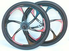 MAGNESIUM ALLOY WHEELS FRONT & REAR MTB MOUNTAIN BIKE WITH CASSETTE 26 INCH NEW