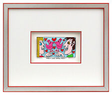 James Rizzi WHEN LOVE BIRDS MEET. 3D Bild drucksigniert