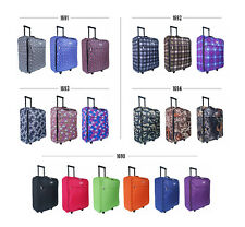 Folding Onboard Lightweight Hand Luggage Wheeled Travel Suitcase Trolley Cabin C