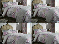 NEW CATHERIN LANSFIELD FLORAL PATCHWORK DUVET QUILT COVER PILLOWCASE BEDDING SET