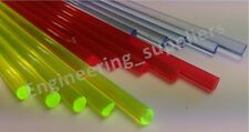 Blue, Red, Yellow, Green & Orange Acrylic Fluorescent 3.2, 4.8, 6.4mm Rnd Bars