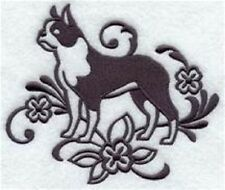 DOG TOWEL BOSTON TERRIER   EMBROIDERED     4 COLOURS 12 BREEDS  BNWOT