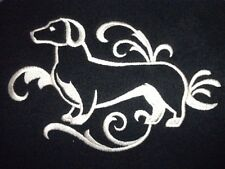 DOG TOWEL   EMBROIDERED     4 COLOURS 12 BREEDS  BNWOT  DACHSHUND