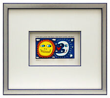 James Rizzi THE SUN LOVES THE MOON. Orig. 3D Collage drucksigniert