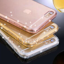 Crystal Diamond Luxury Bling Ultra Thin Gel Case Cover For iPhone 5 6 6Plus