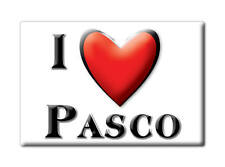 SOUVENIR USA - WASHINGTON FRIDGE MAGNET AMERICA I LOVE PASCO (FRANKLIN COUNTY)