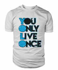 YOLO T Shirt You Only Live Once Tee Cool Present Gift Mens Womens Unisex Tshirt