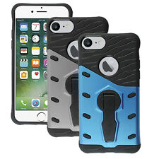 Shockproof Stand Hybrid Rugged Armor 360° Rotate Cover Case For iPhone 7 4.7''