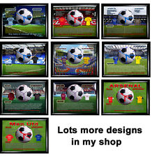 Unofficial Football Teams  Picture with working clock, Not Cd Clock,  Birthday,