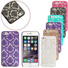 Hard Back Damask Phone Case Cover For Apple iPhone Models FREE 1Screen Protector