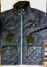 NEW MENS NICHOLAS DEAKINS NAVY QUILTED PADDED FULL ZIP JACKET SLIGHT SECOND **