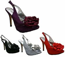 Womens High Heel Peep Toe Sandals Ladies Evening Party Work Shoes Size, [], []