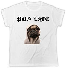 Pug Life Dog T Shirt Thug Life Top Funny Ideal Gift Cute Doggy Unisex  TShirt