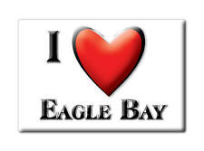 SOUVENIR USA - NEW YORK FRIDGE MAGNET I LOVE EAGLE BAY (HERKIMER COUNTY)