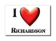 SOUVENIR USA - TEXAS FRIDGE MAGNET AMERICA I LOVE RICHARDSON (DALLAS COUNTY)