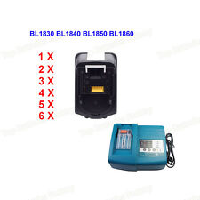 18V Batterie Pour Makita Chargeur for Makita BL1830 BL1840 LXT Lithium-ion 3-6Ah