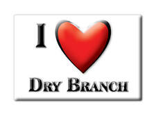 SOUVENIR USA - GEORGIA FRIDGE MAGNET AMERICA I LOVE DRY BRANCH (TWIGGS COUNTY)
