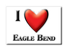 SOUVENIR USA - MINNESOTA FRIDGE MAGNET AMERICA I LOVE EAGLE BEND (TODD COUNTY)