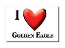 SOUVENIR USA - ILLINOIS FRIDGE MAGNET I LOVE GOLDEN EAGLE (CALHOUN COUNTY)