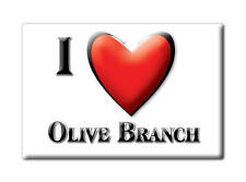SOUVENIR USA - ILLINOIS FRIDGE MAGNET I LOVE OLIVE BRANCH (ALEXANDER COUNTY)